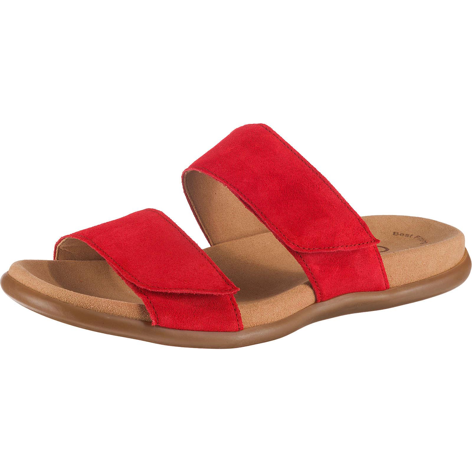 Gabor Pantoletten rot Damen Gr. 36
