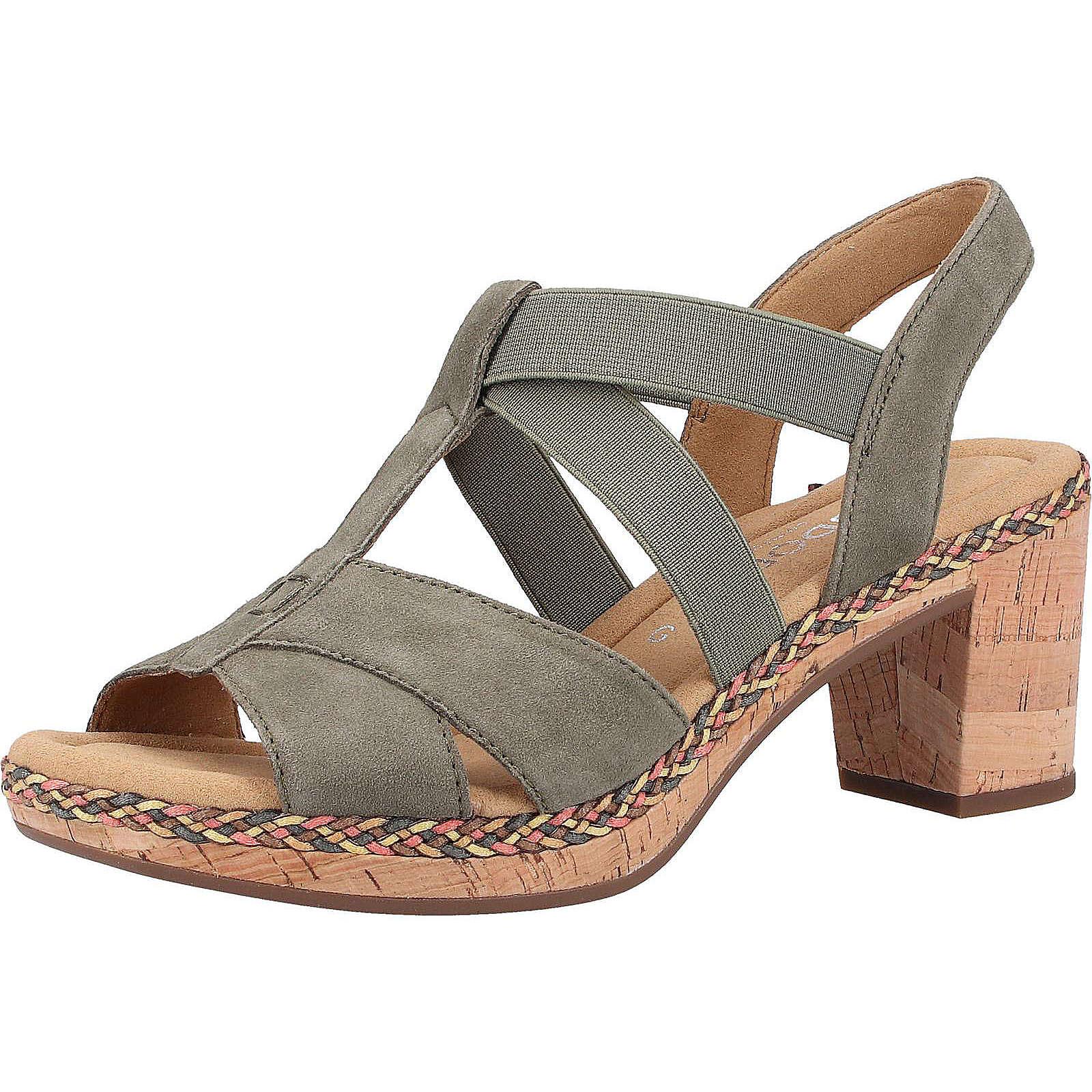 Gabor Sandalen Klassische Sandaletten khaki Damen Gr. 36
