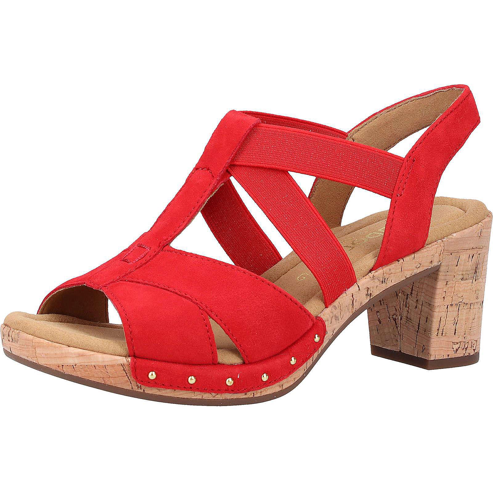 Gabor Sandalen Klassische Sandaletten rot Damen Gr. 38,5