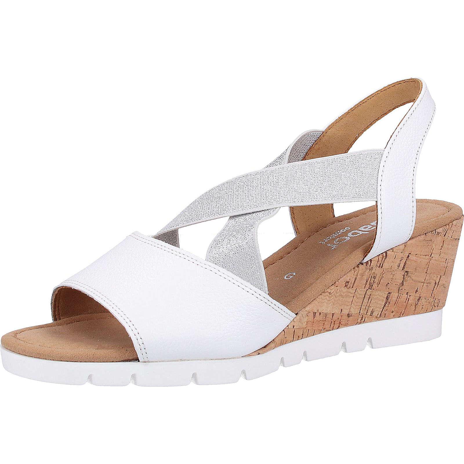 Gabor Sandalen Klassische Sandaletten weiß Damen Gr. 36