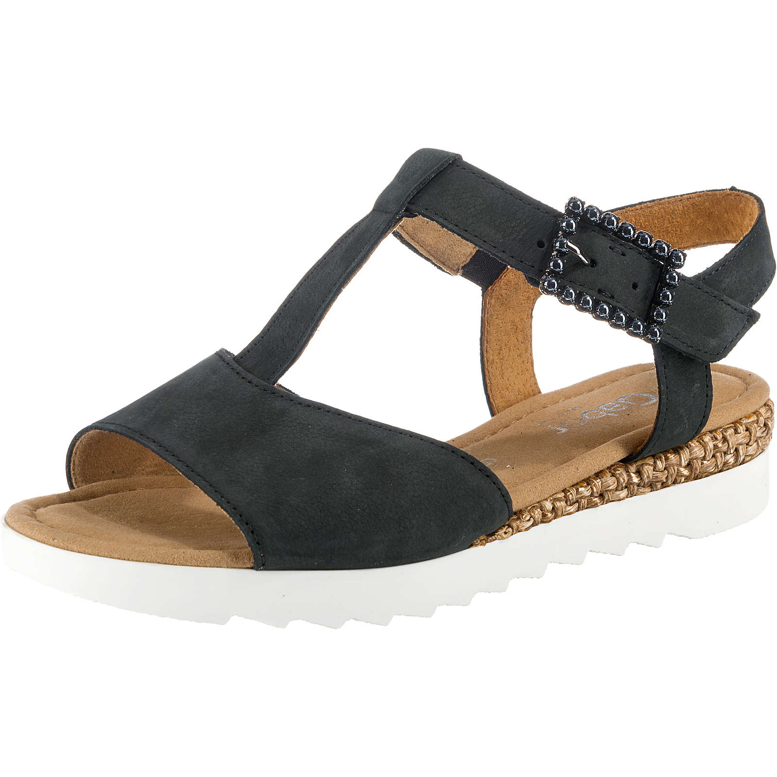 Gabor T-Steg-Sandaletten blau Damen Gr. 38