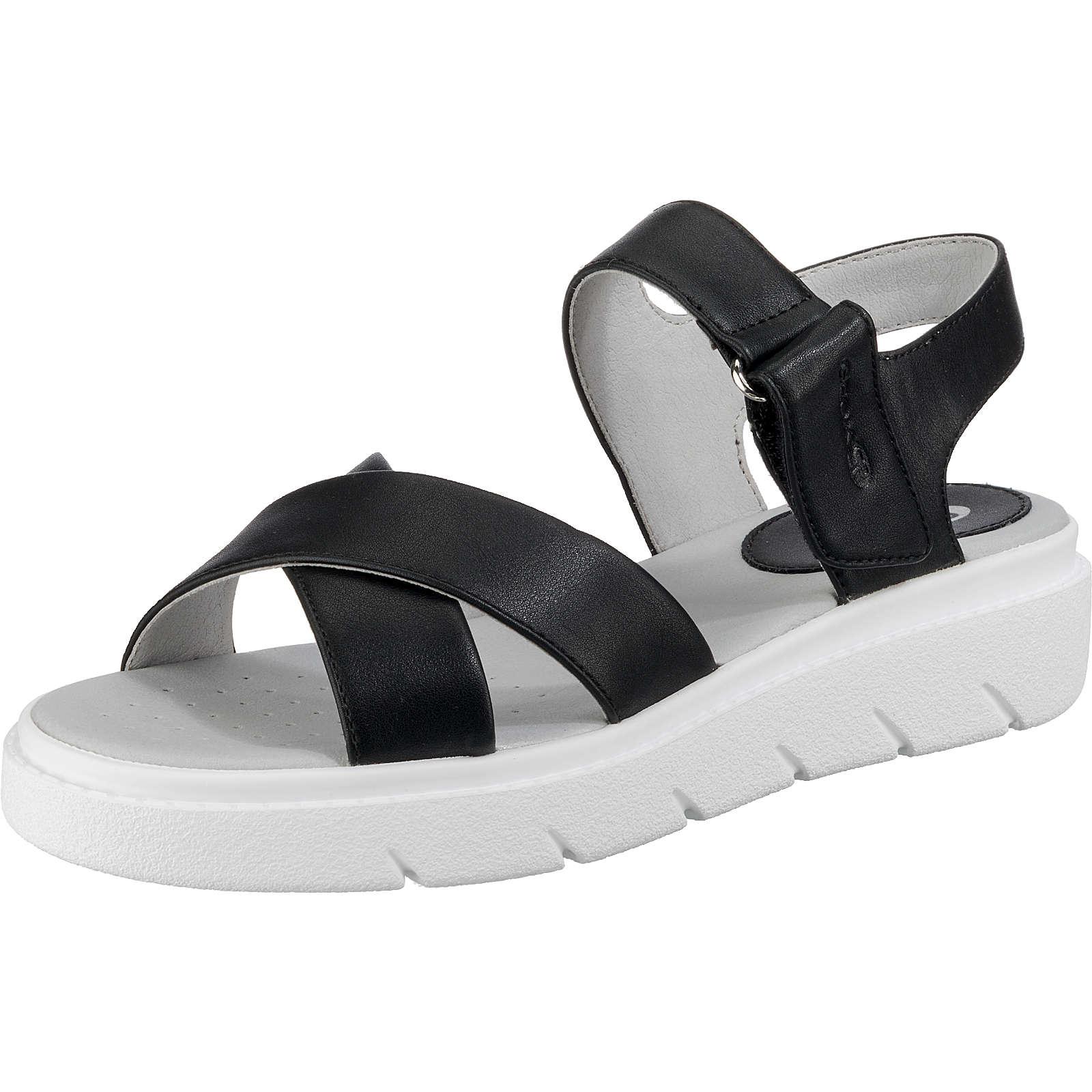 GEOX Klassische Sandalen schwarz Damen Gr. 37