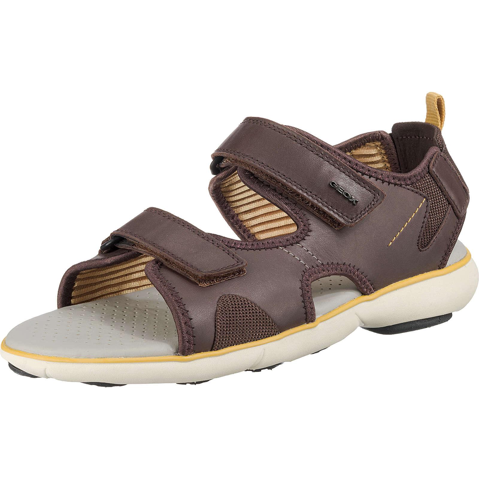 GEOX Komfort-Sandalen braun Herren Gr. 44