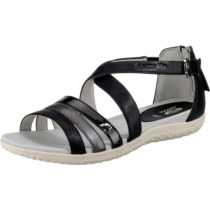 GEOX Komfort-Sandalen schwarz/grau Damen Gr. 40