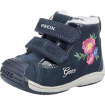 GEOX Lauflernschuhe TOLEDO für Mädchen, gefüttert, Blumen blau Mädchen Gr. 19