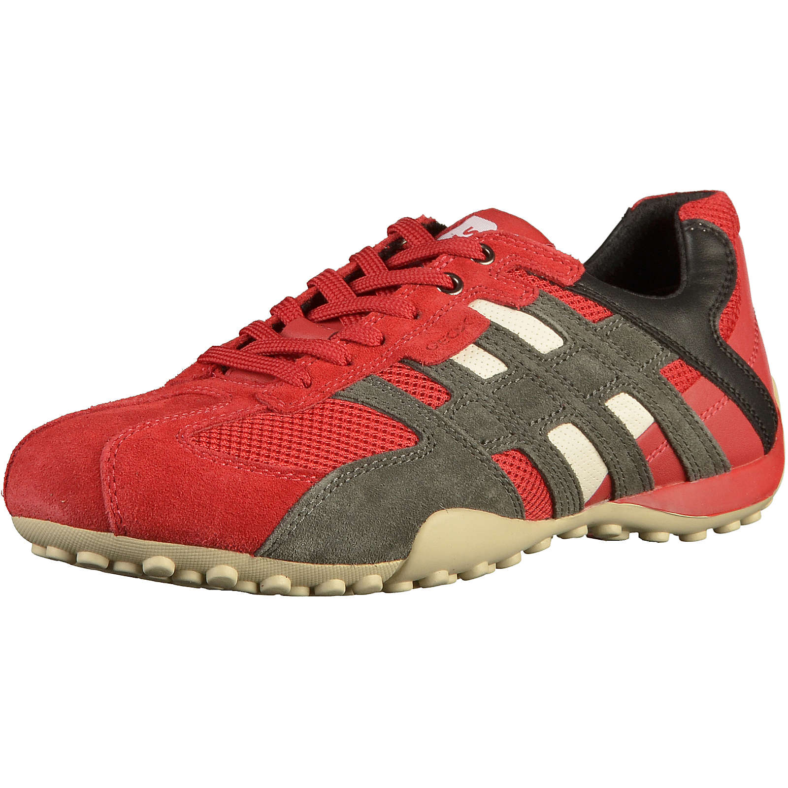 GEOX Sneaker Sneakers Low rot-kombi Herren Gr. 44