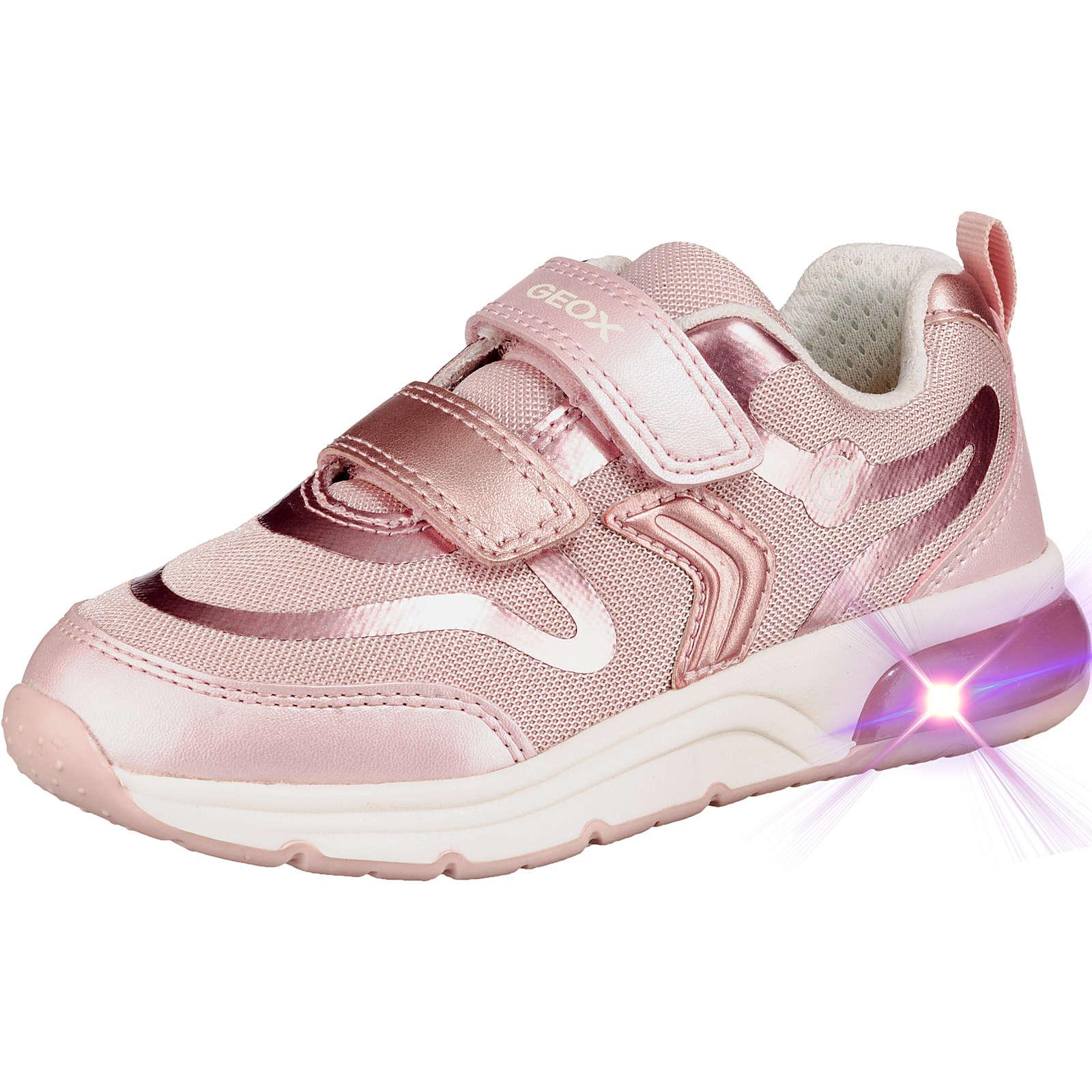 GEOX Sneakers Low Blinkies SPACECLUB GIRL für Mädchen rosa Mädchen Gr. 29