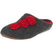 HAFLINGER Dakota Rose Pantoffeln grau Damen Gr. 36