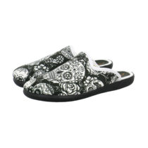 Happy Slipper Skull Pantoffeln schwarz Damen Gr. 37