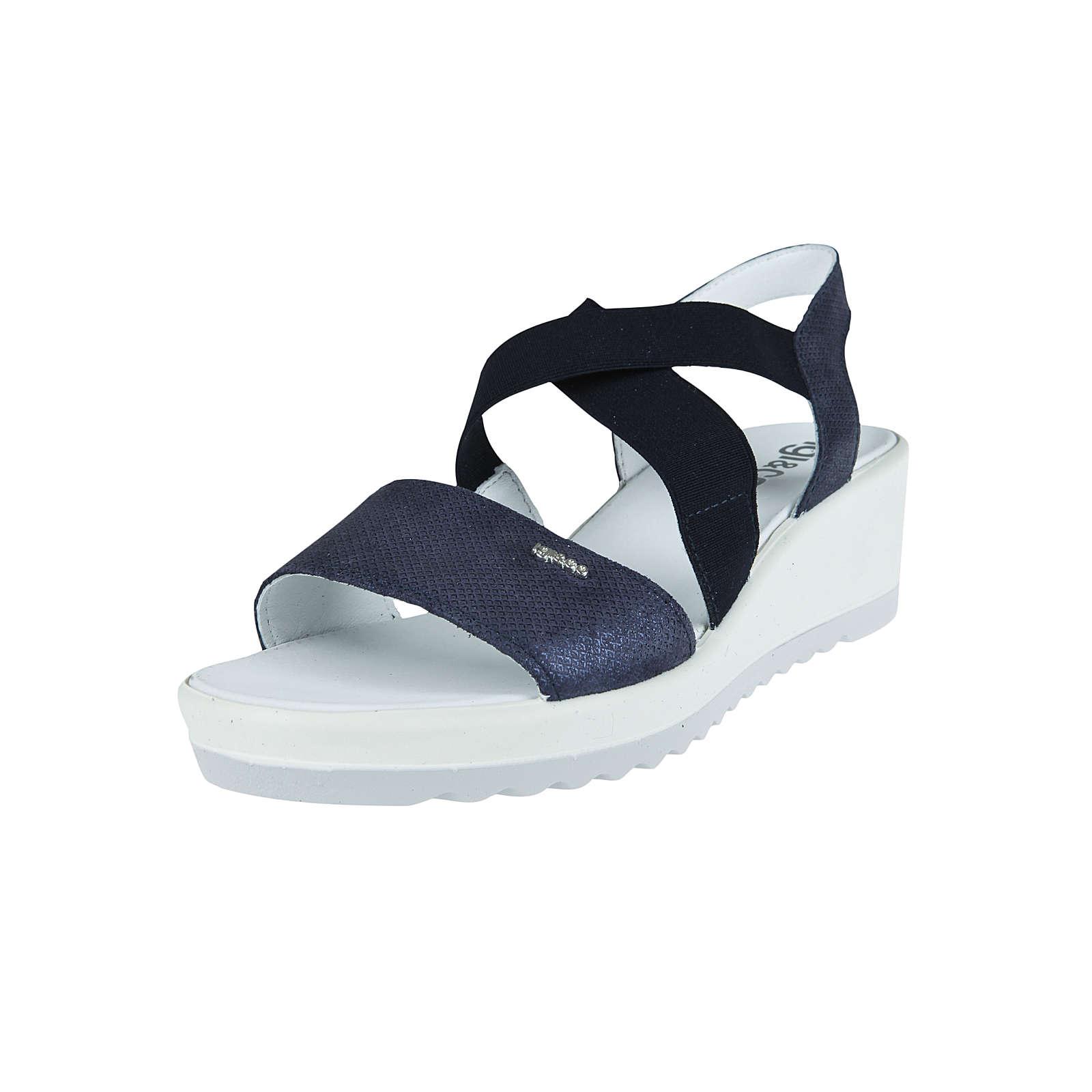 IGI & CO Sandale mit elastischen Riemen Sandalen blau Damen Gr. 37