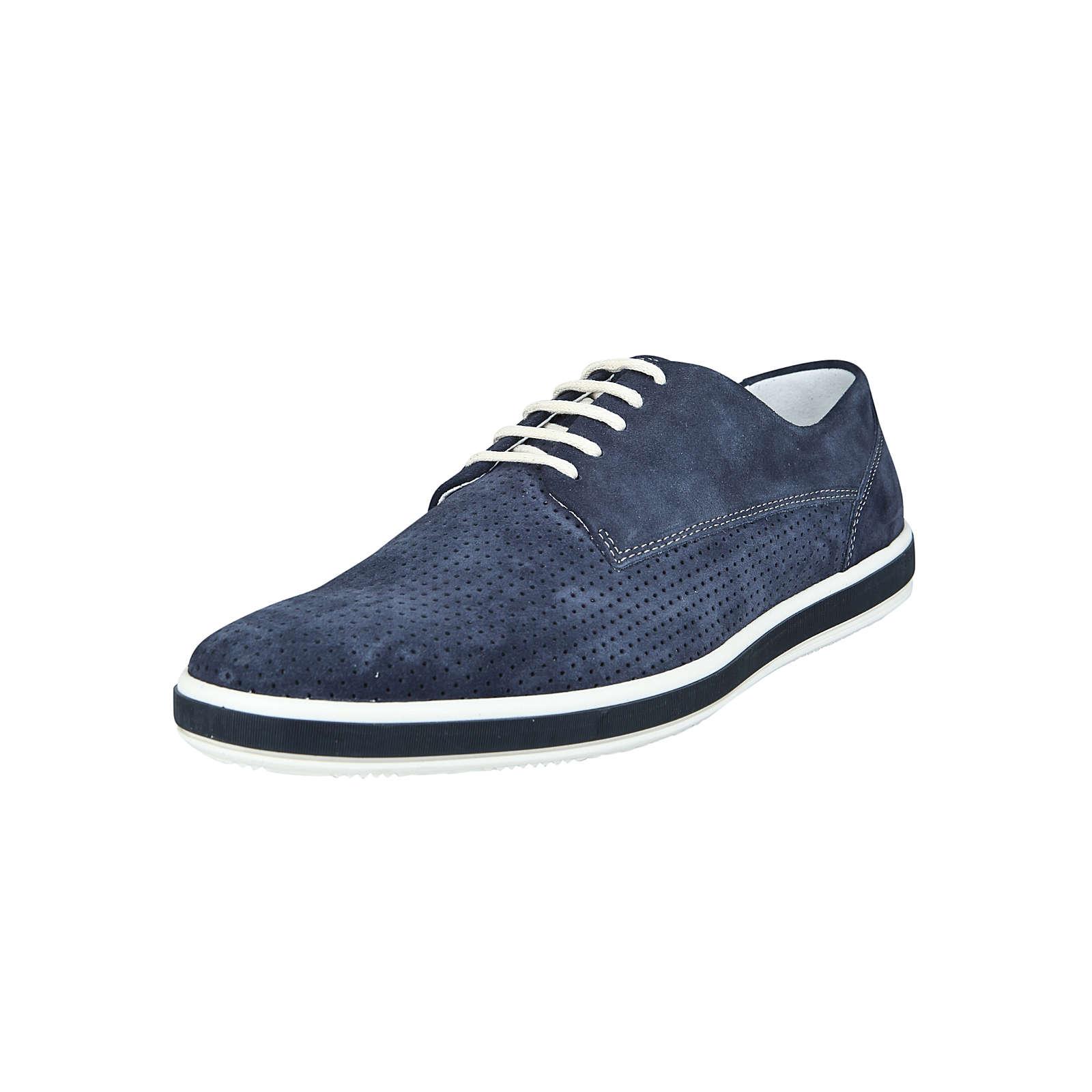 IGI & CO Schuh mit Lochprägung Schnürschuhe blau Herren Gr. 41