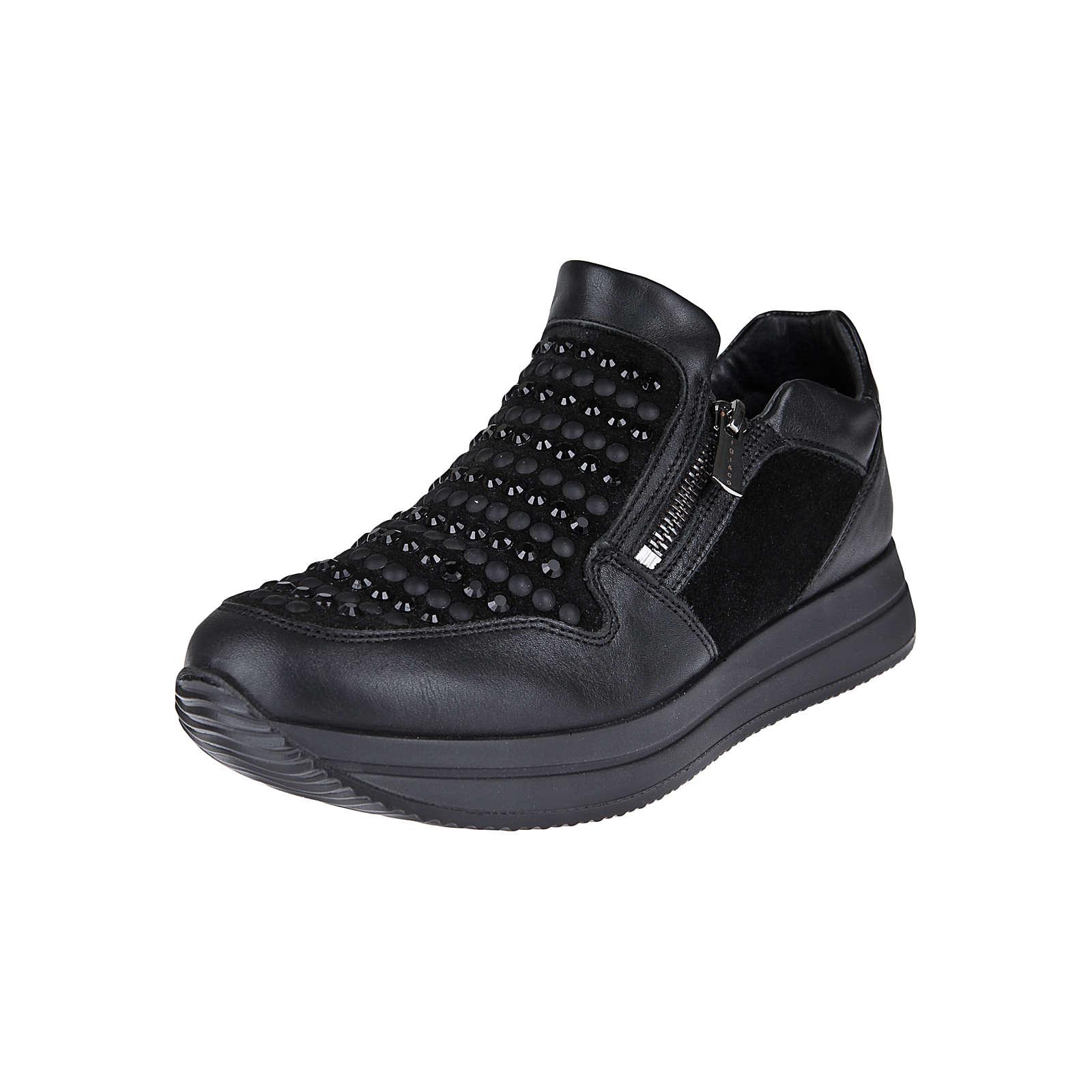 IGI & CO Slip-On Sneaker mit Strass Sneakers Low dunkelbraun Damen Gr. 37