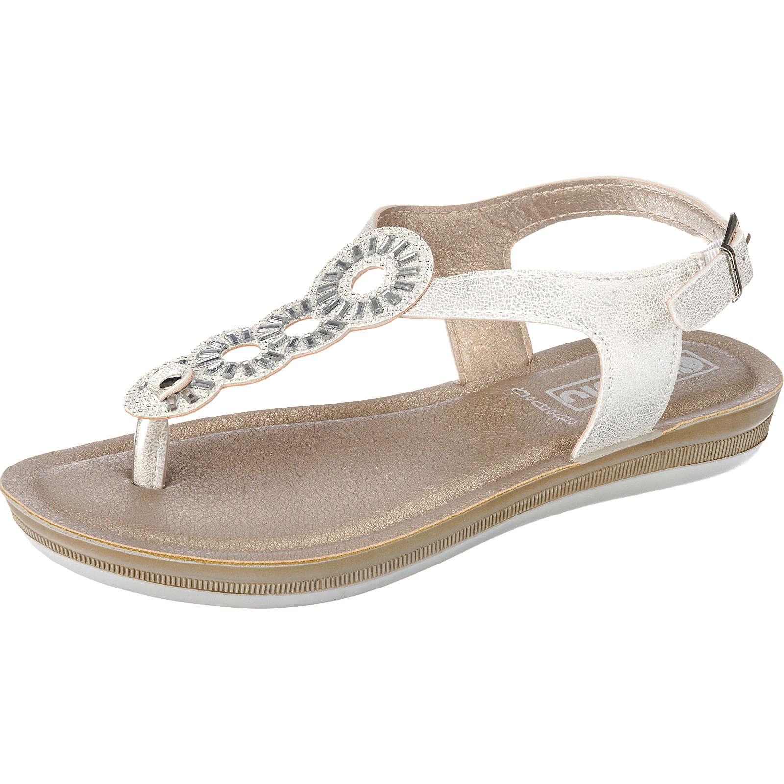 INBLU BA000006 Klassische Sandalen weiß Damen Gr. 38