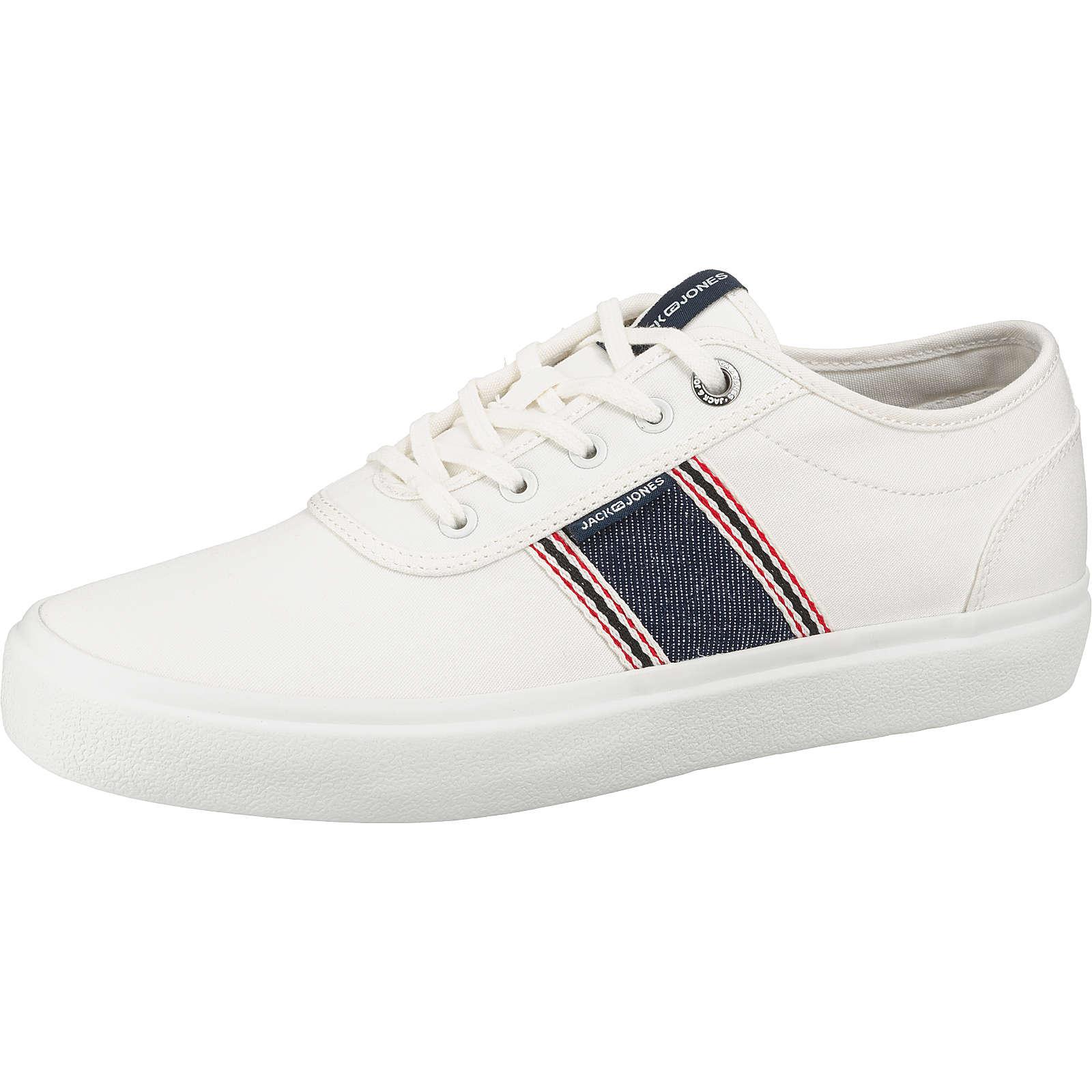 JACK & JONES JFWAUSTIN DENIM STRIPE BRIGHT WHITE Sneakers Low dunkelblau Herren Gr. 42