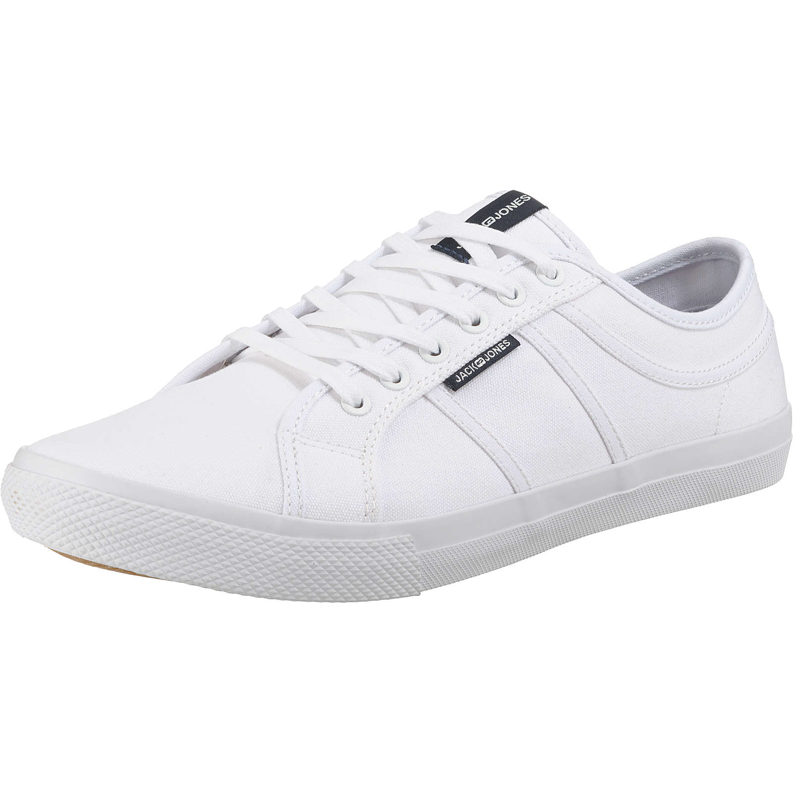 JACK & JONES JFWROSS CANVAS BRIGHT WHITE STS Sneakers Low weiß Herren Gr. 42