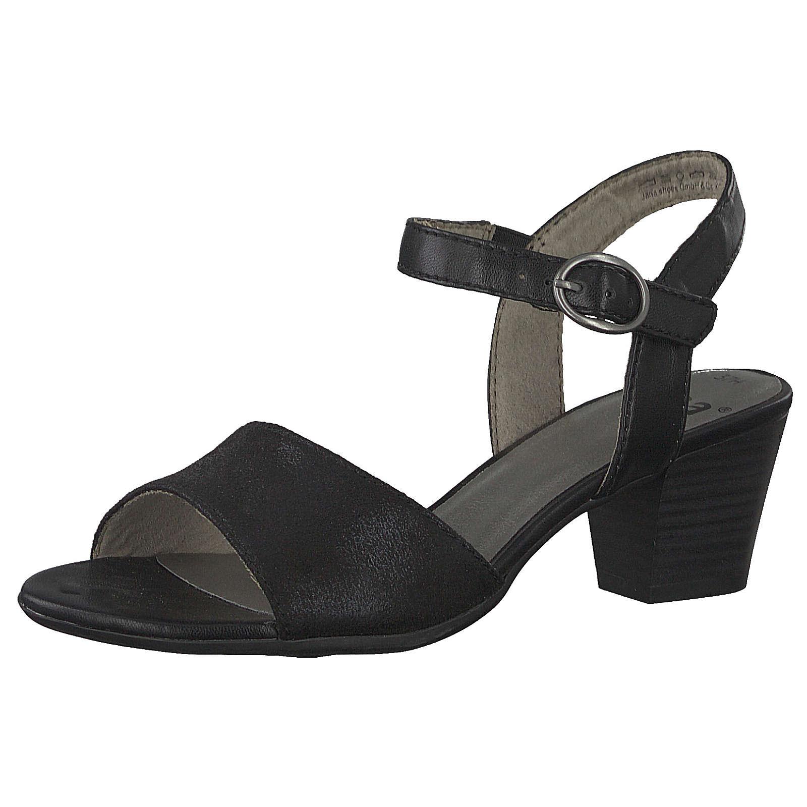 Jana Klassische Sandaletten schwarz Damen Gr. 40