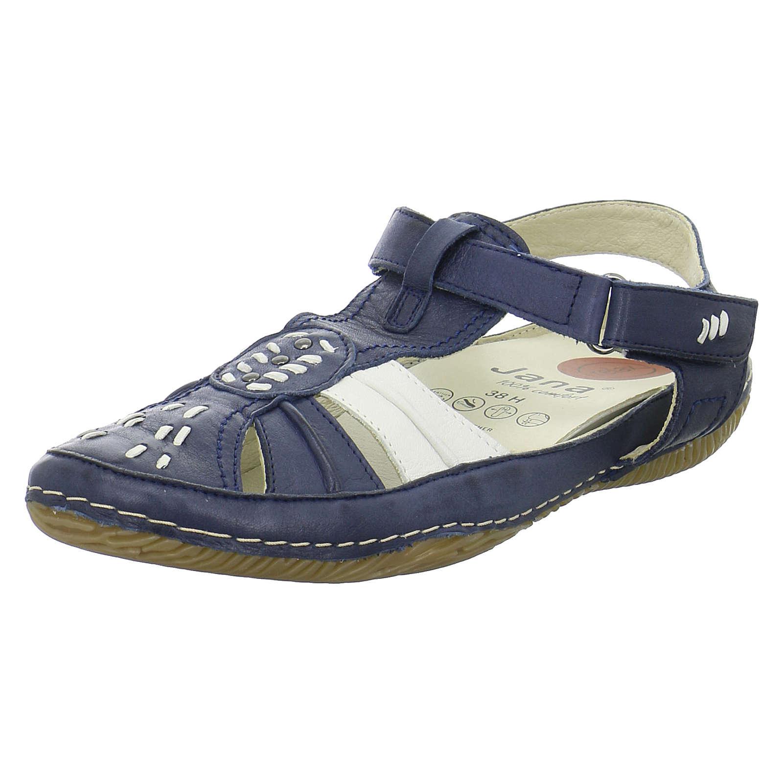 Jana Sandalen 8-28111 Klassische Sandaletten blau Damen Gr. 38