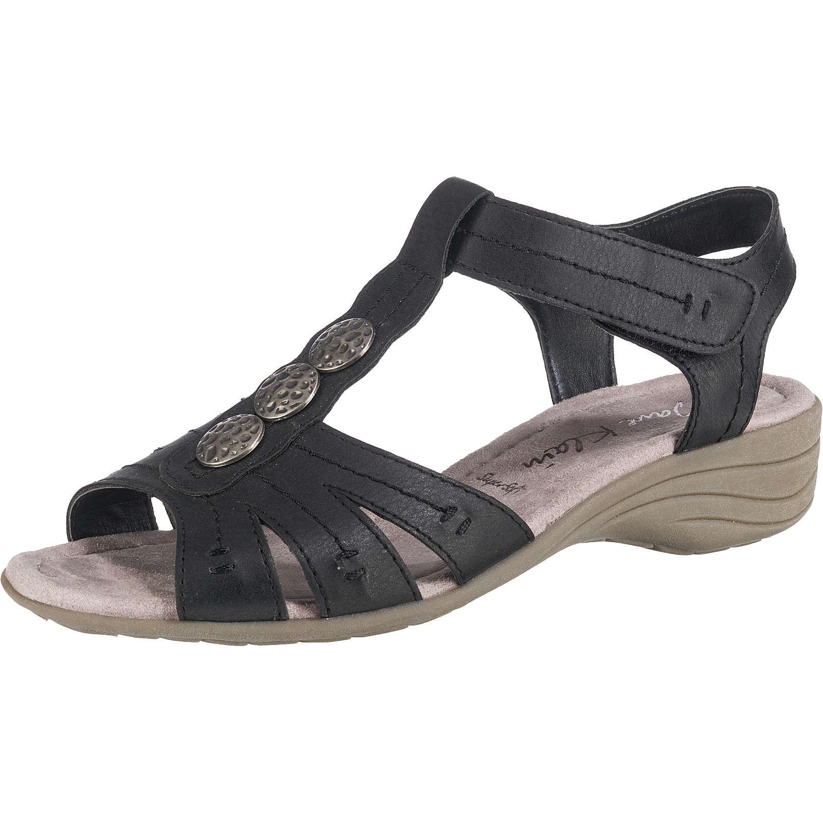 Jane Klain T-Steg-Sandaletten schwarz Damen Gr. 40