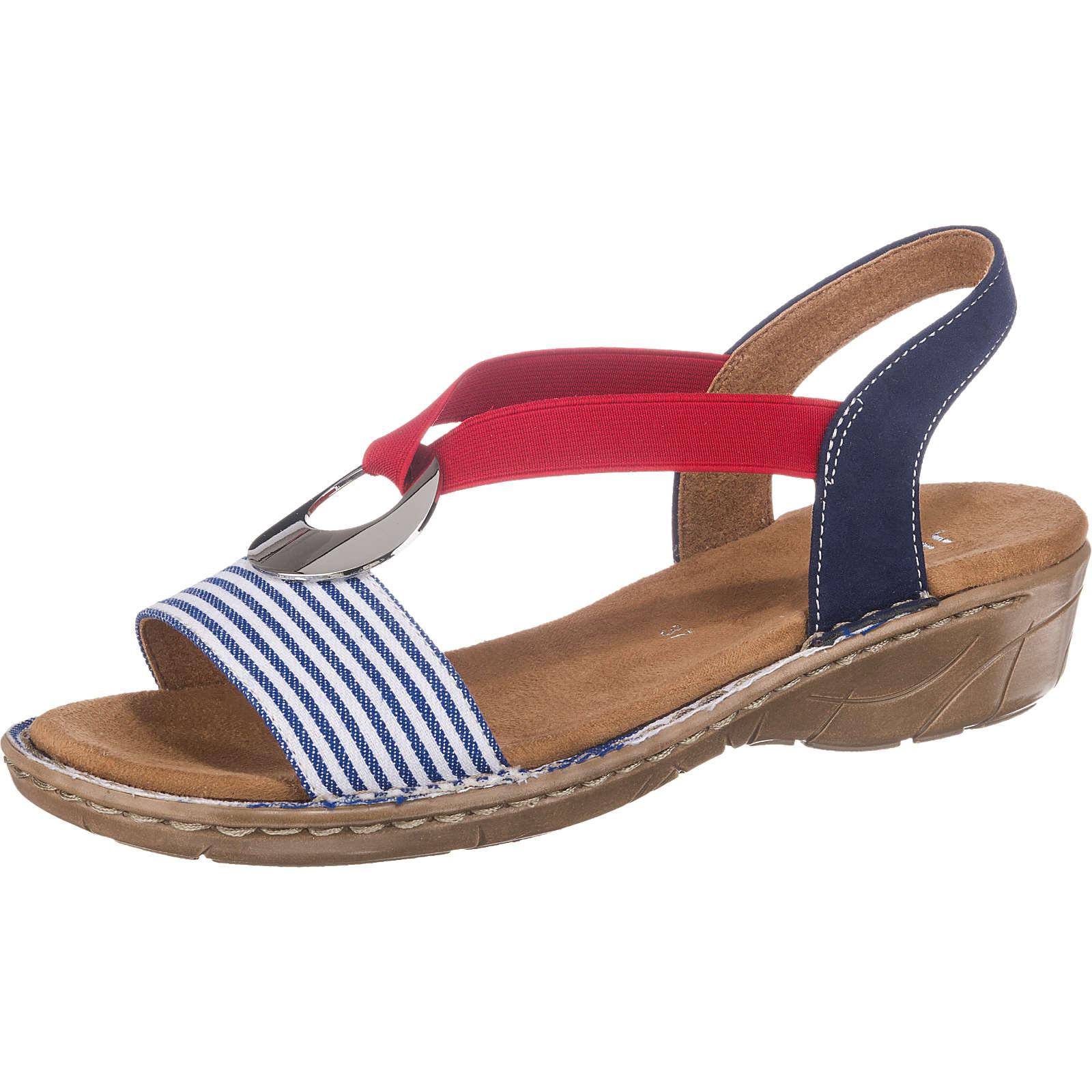 JENNY Korsika Klassische Sandalen blau-kombi Damen Gr. 40