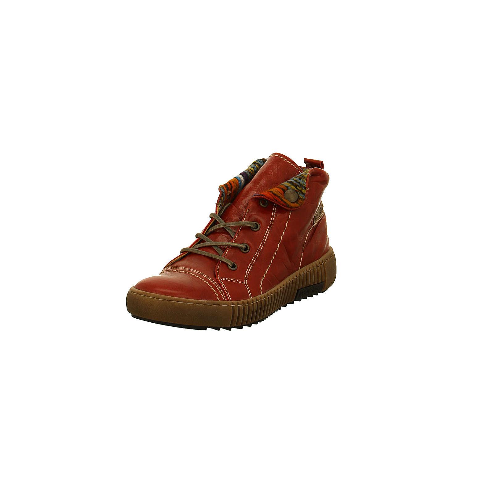 Josef Seibel Damen Winterboots – Maren 09 – Glattleder in rot – 84609/PL88452 Schnürstiefeletten rot-kombi Damen Gr. 39