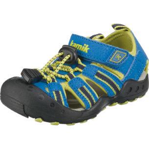 kamik Outdoorsandalen CRAB für Jungen blau/gelb Junge Gr. 30