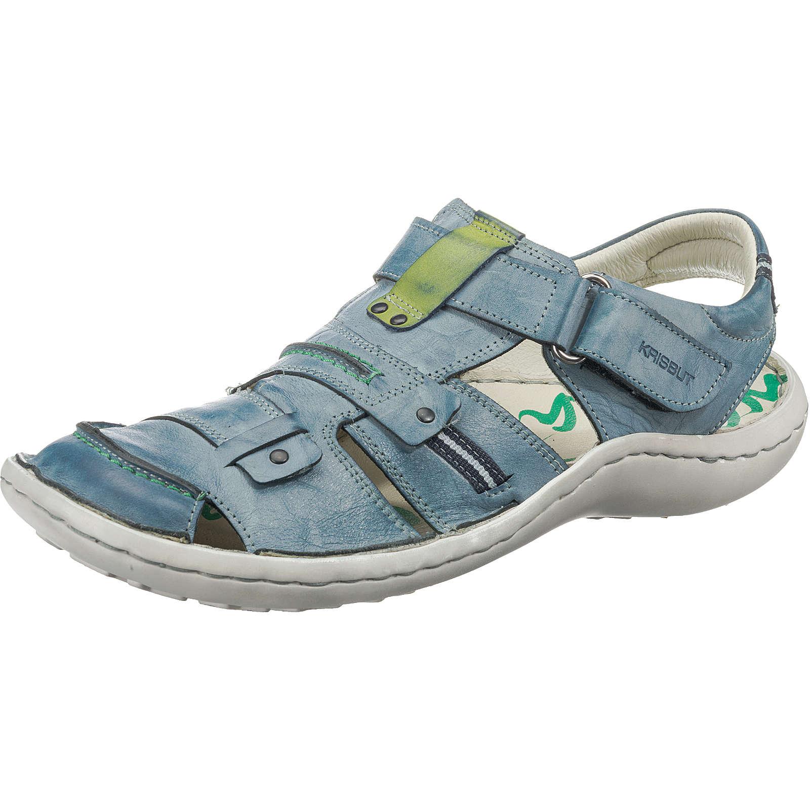 Krisbut 1168-1-1 Klassische Sandalen dunkelblau Herren Gr. 45
