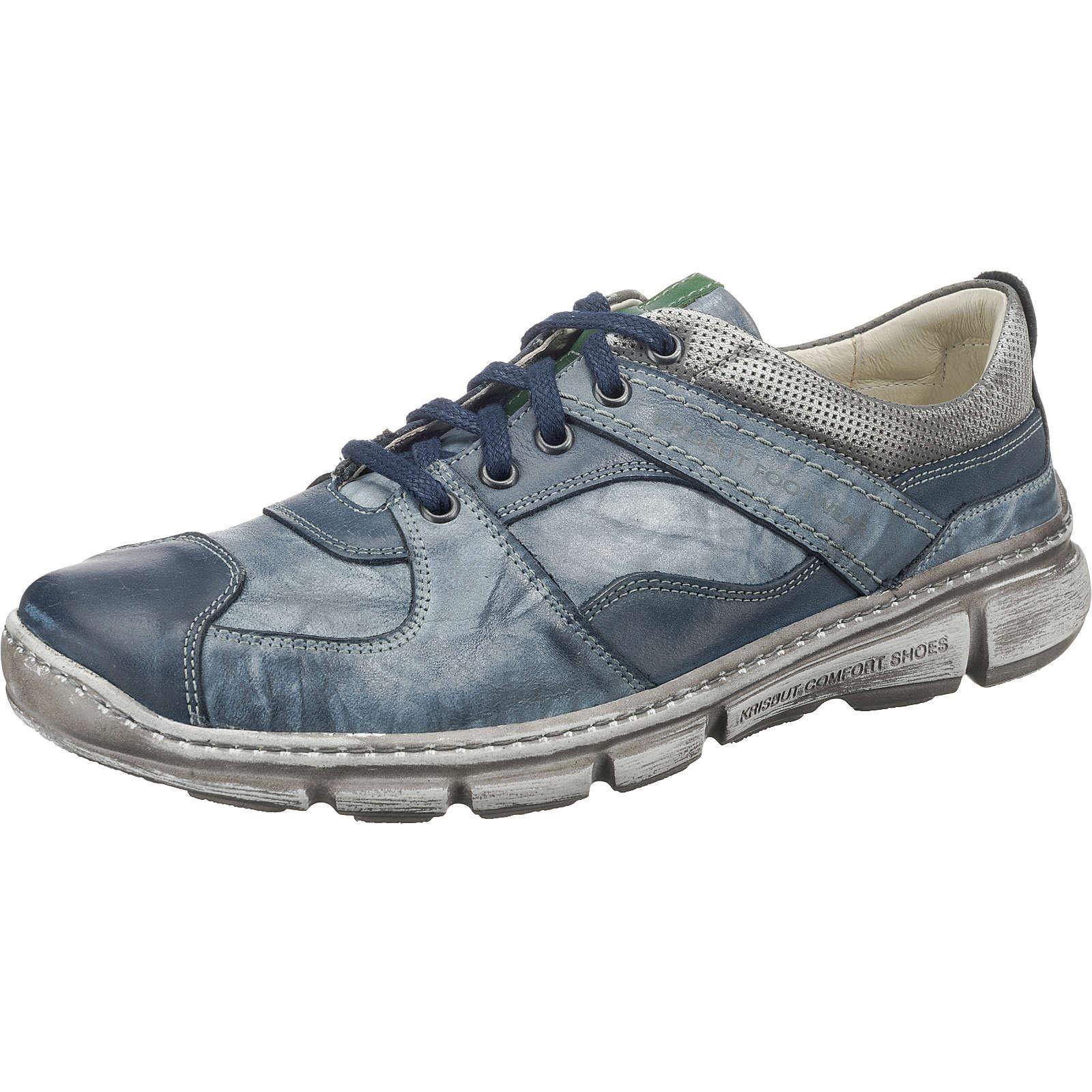 Krisbut 5068-2-1 Schnürschuhe blau Herren Gr. 45