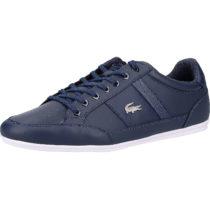LACOSTE Sneaker Sneakers Low blau/weiß Herren Gr. 44