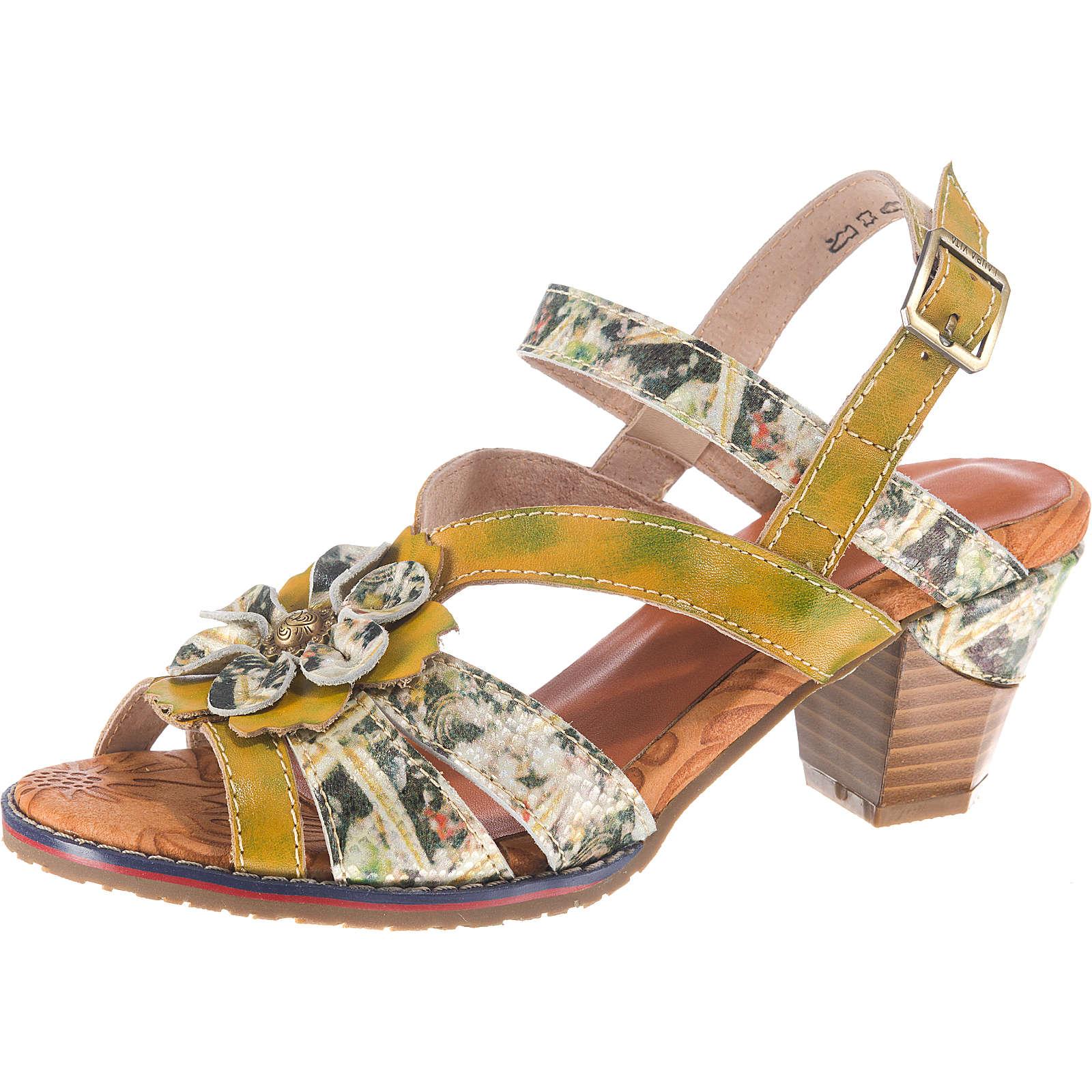 Laura Vita Dream 02 Klassische Sandaletten gelb-kombi Damen Gr. 40