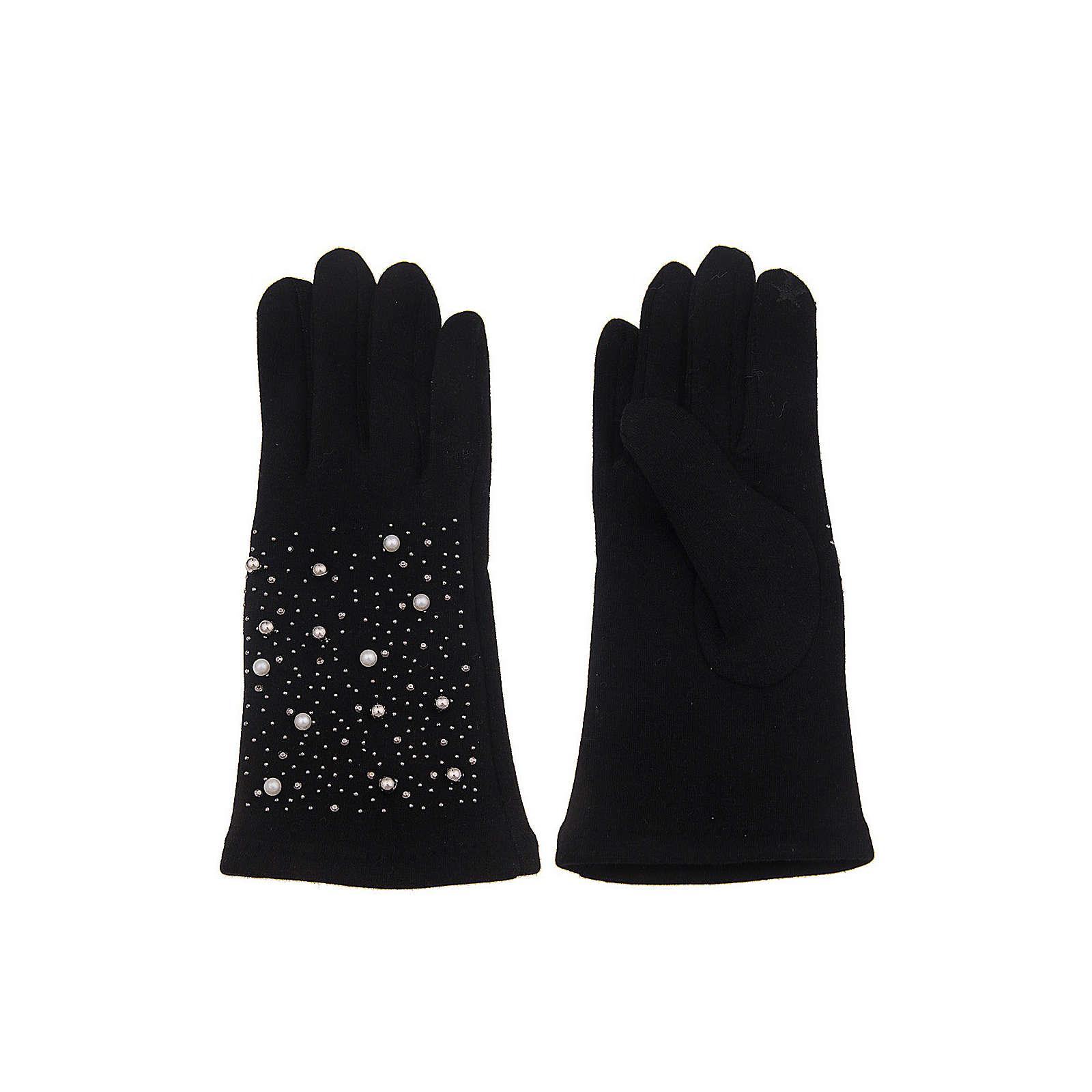 Leslii Fingerhandschuh mit praktischer Touchscreen-Funktion Fingerhandschuhe schwarz/weiß Damen