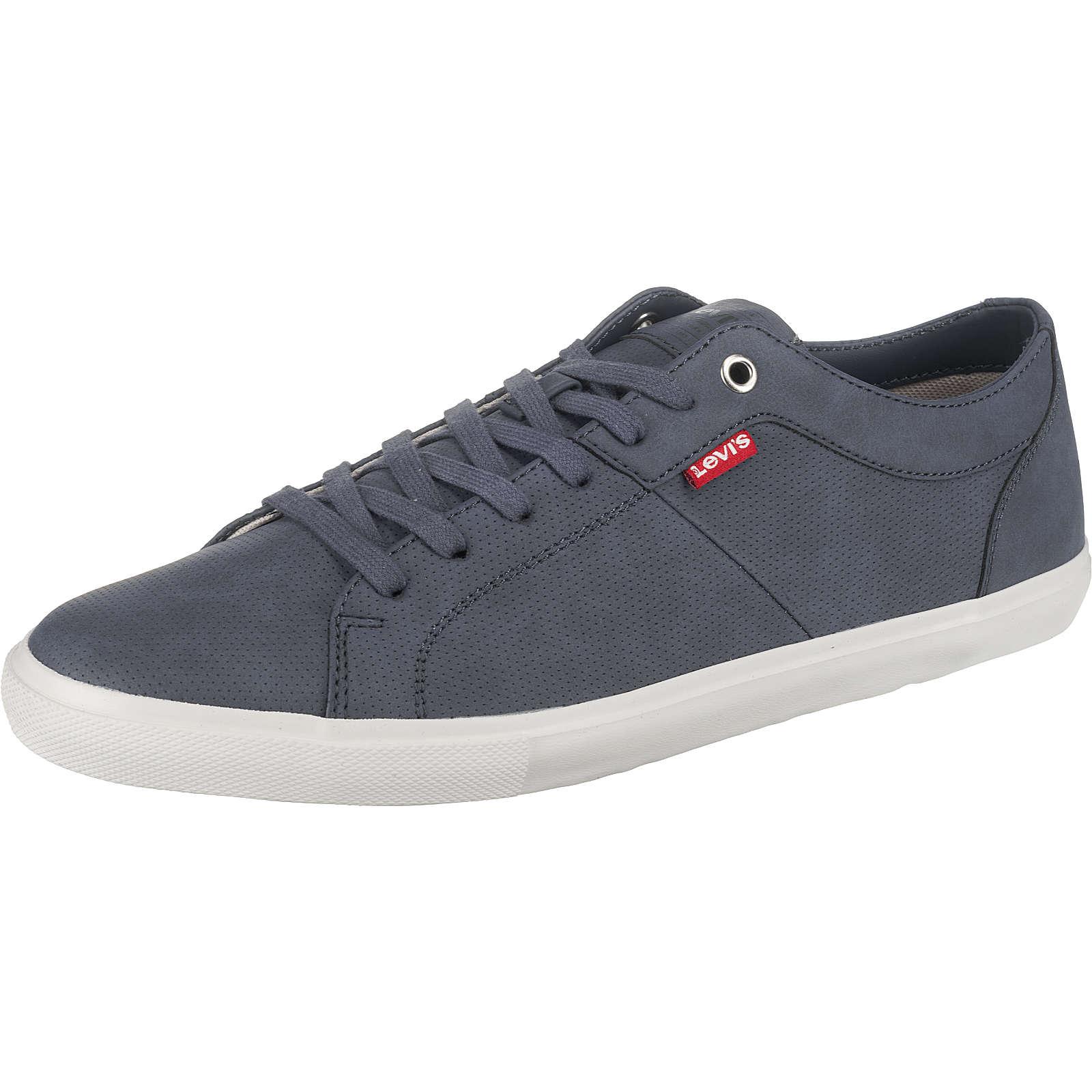 Levi´s® Woods Sneakers Low blau Herren Gr. 43