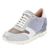 LLOYD Damenschuh mit verstecktem Keilabsatz Sneakers Low silber Damen Gr. 35