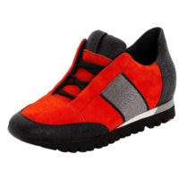 LLOYD Sneaker mit verstecktem Keilabsatz Sneakers Low rot Damen Gr. 40,5