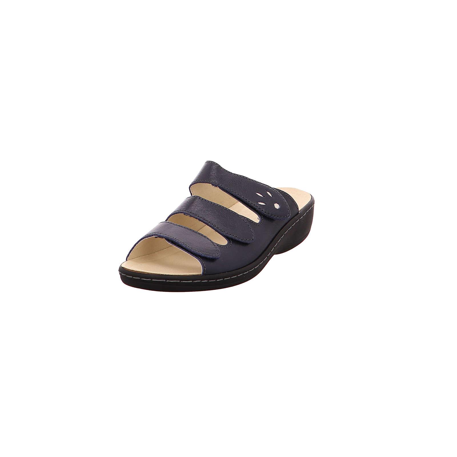 Longo 1006395 Komfort-Pantoletten blau Damen Gr. 38