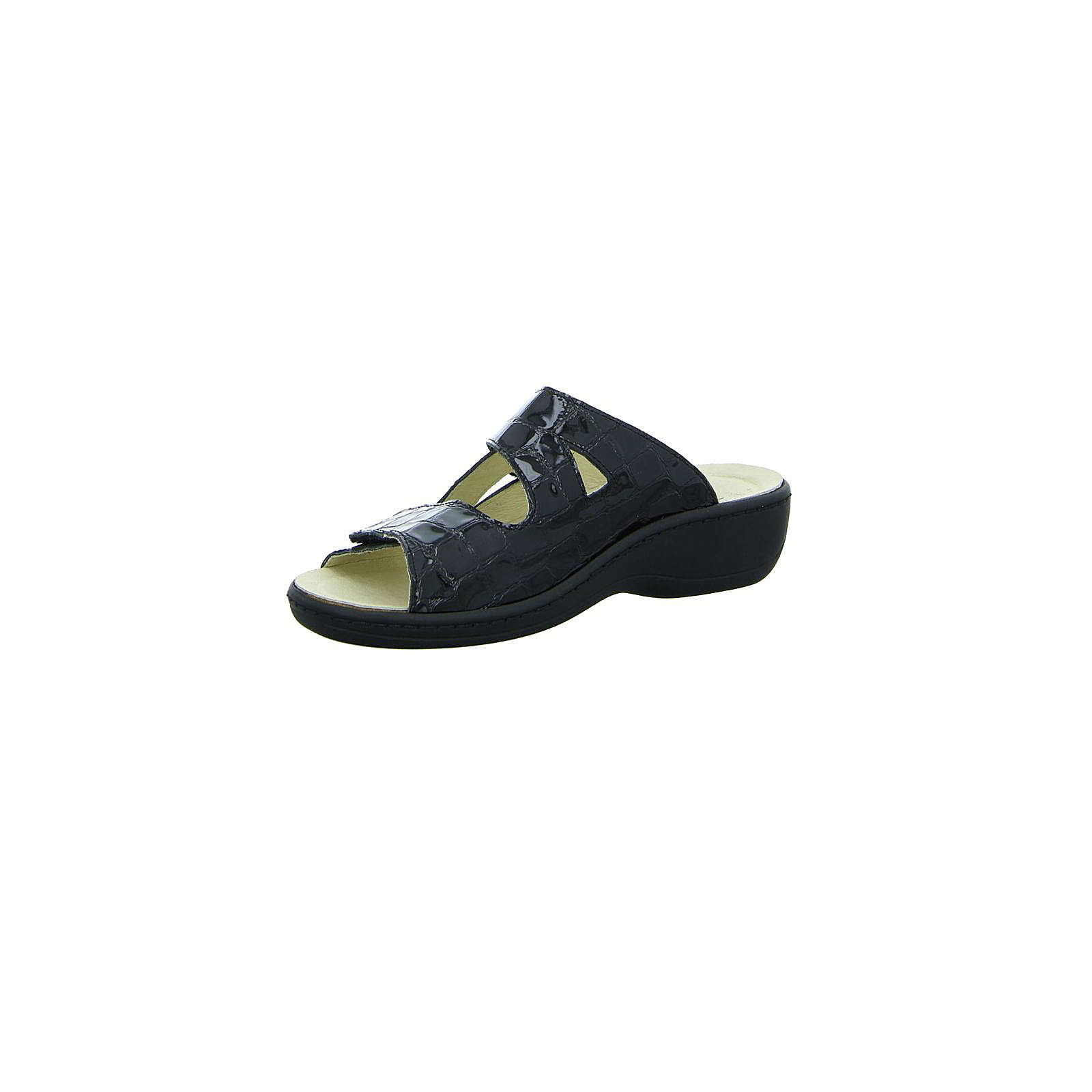 Longo Komfort-Pantoletten schwarz Damen Gr. 40