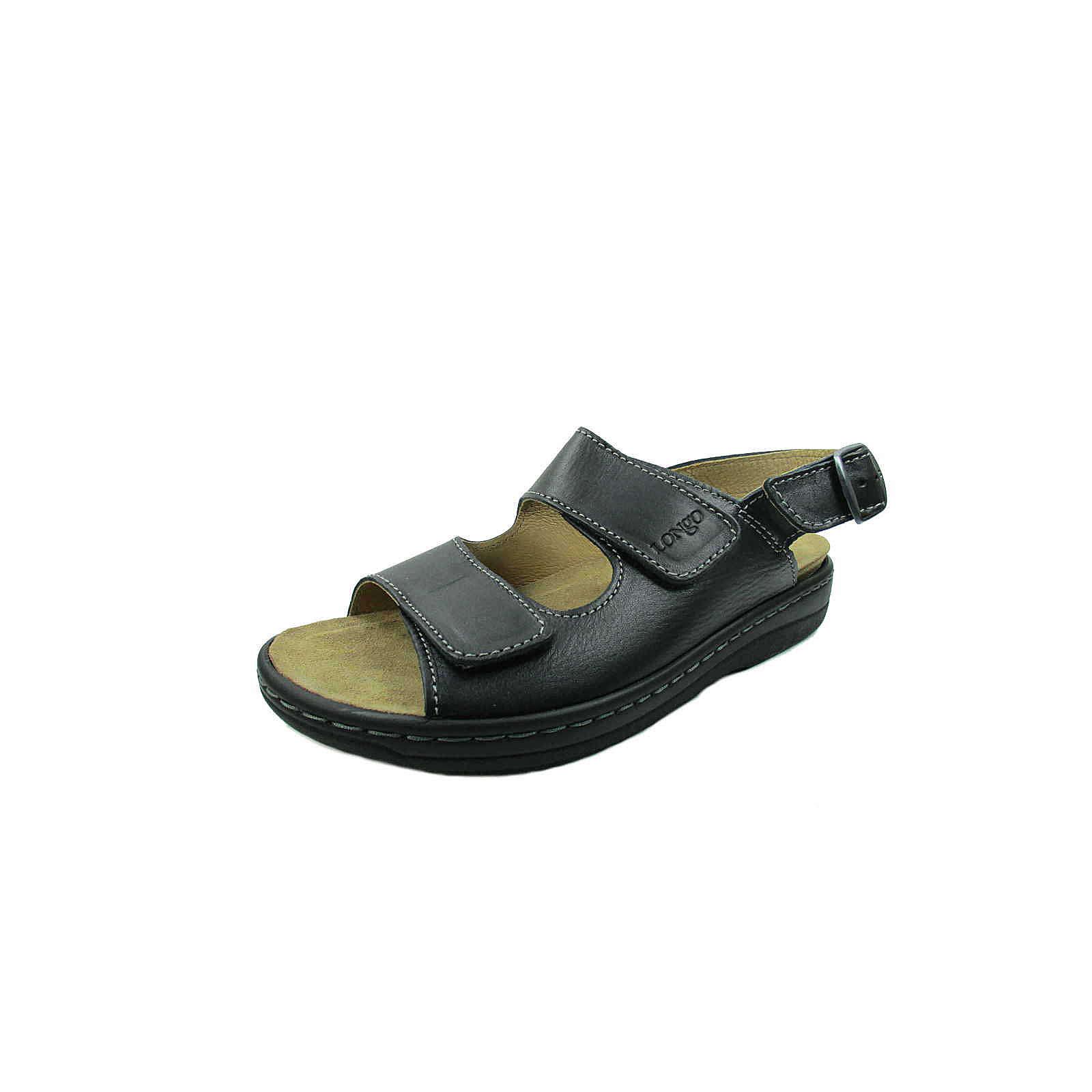Longo Komfort-Sandalen schwarz Herren Gr. 46
