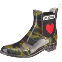 LOVE MOSCHINO Chelsea Boots dunkelgrün Damen Gr. 36
