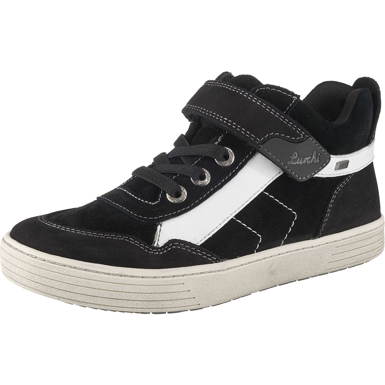 Lurchi Halbschuhe HAKON, TEX, Weite W für breite Füße, für Jungen schwarz Junge Gr. 37