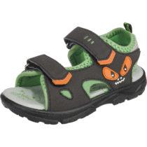 Lurchi Sandalen Blinkies, WMS-Weite W für breite Füße, für Jungen, Monster dunkelgrün Junge Gr. 27