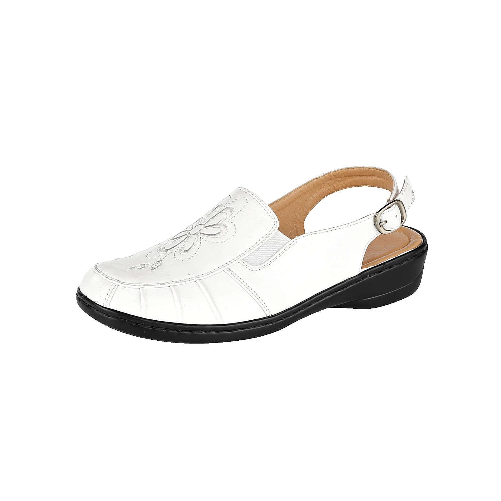 Mae&Mathilda Komfort-Slipper weiß Damen Gr. 37