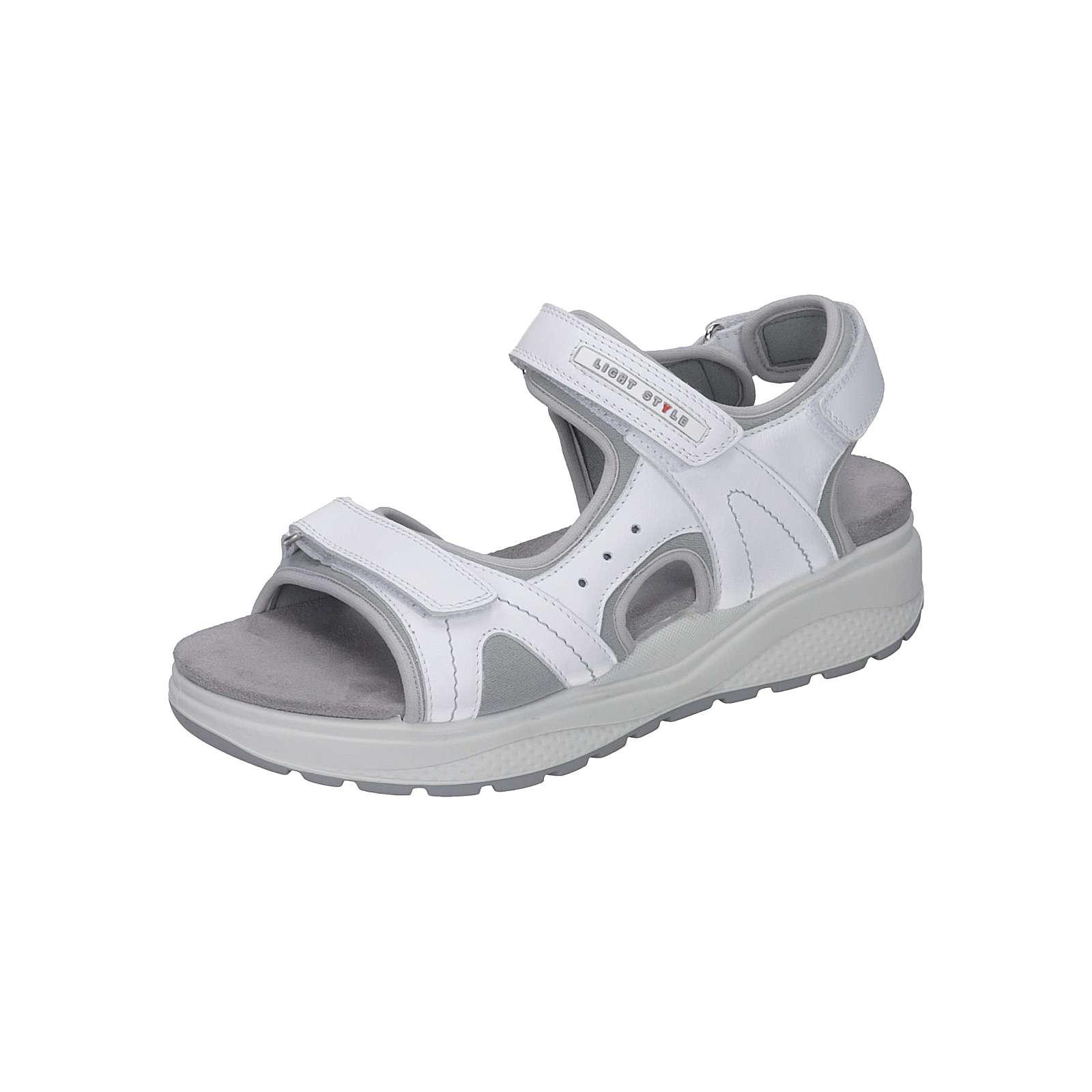 Manitu Manitu-Damen Sandalette Komfort-Sandalen weiß Damen Gr. 38