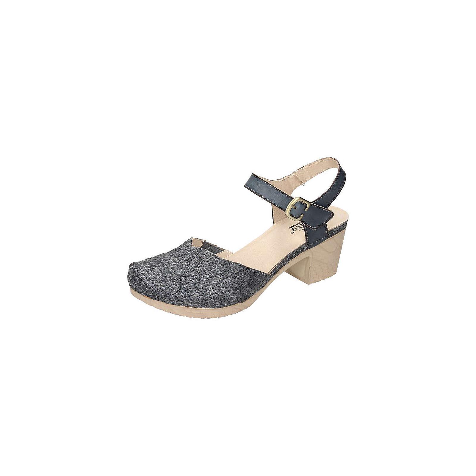 Manitu Damen Sandalette Klassische Sandaletten grau Damen Gr. 37