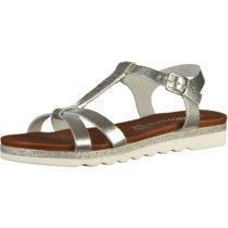 MARCO TOZZI T-Steg-Sandaletten silber Damen Gr. 40