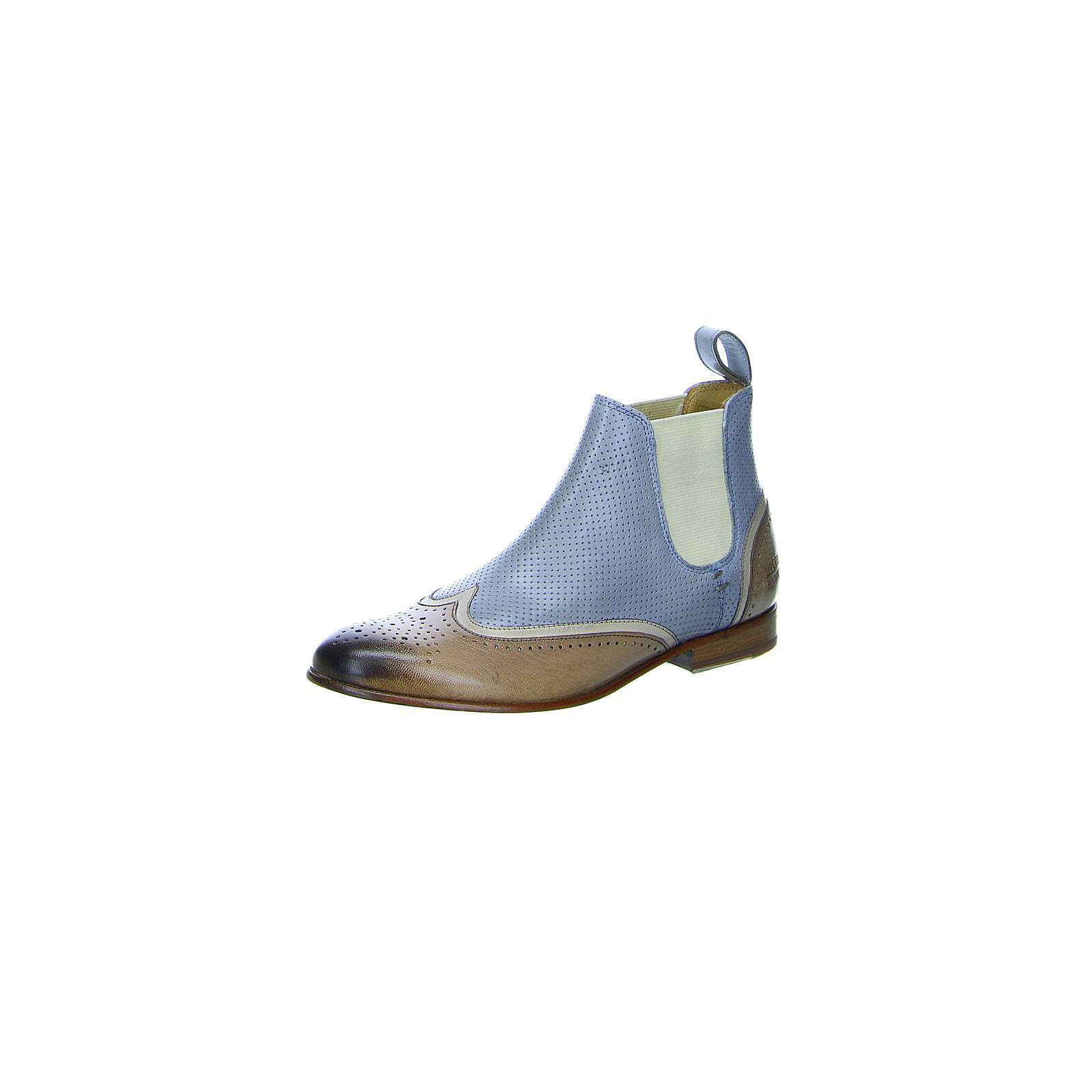 MELVIN & HAMILTON Chelsea Boots braun/blau Damen Gr. 37