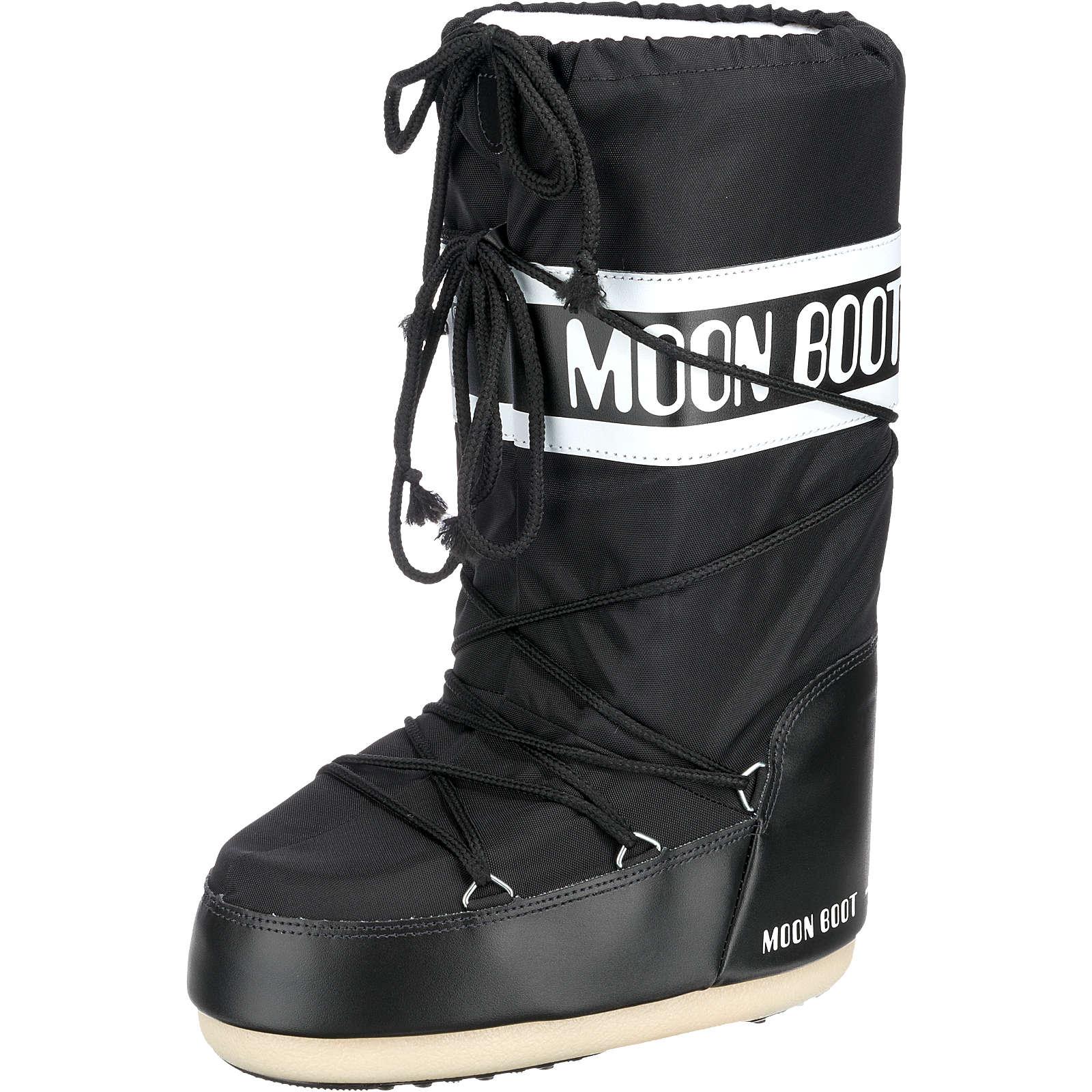 Moonboot Moon Boot Nylon Winterstiefel schwarz Damen Gr. 42-44
