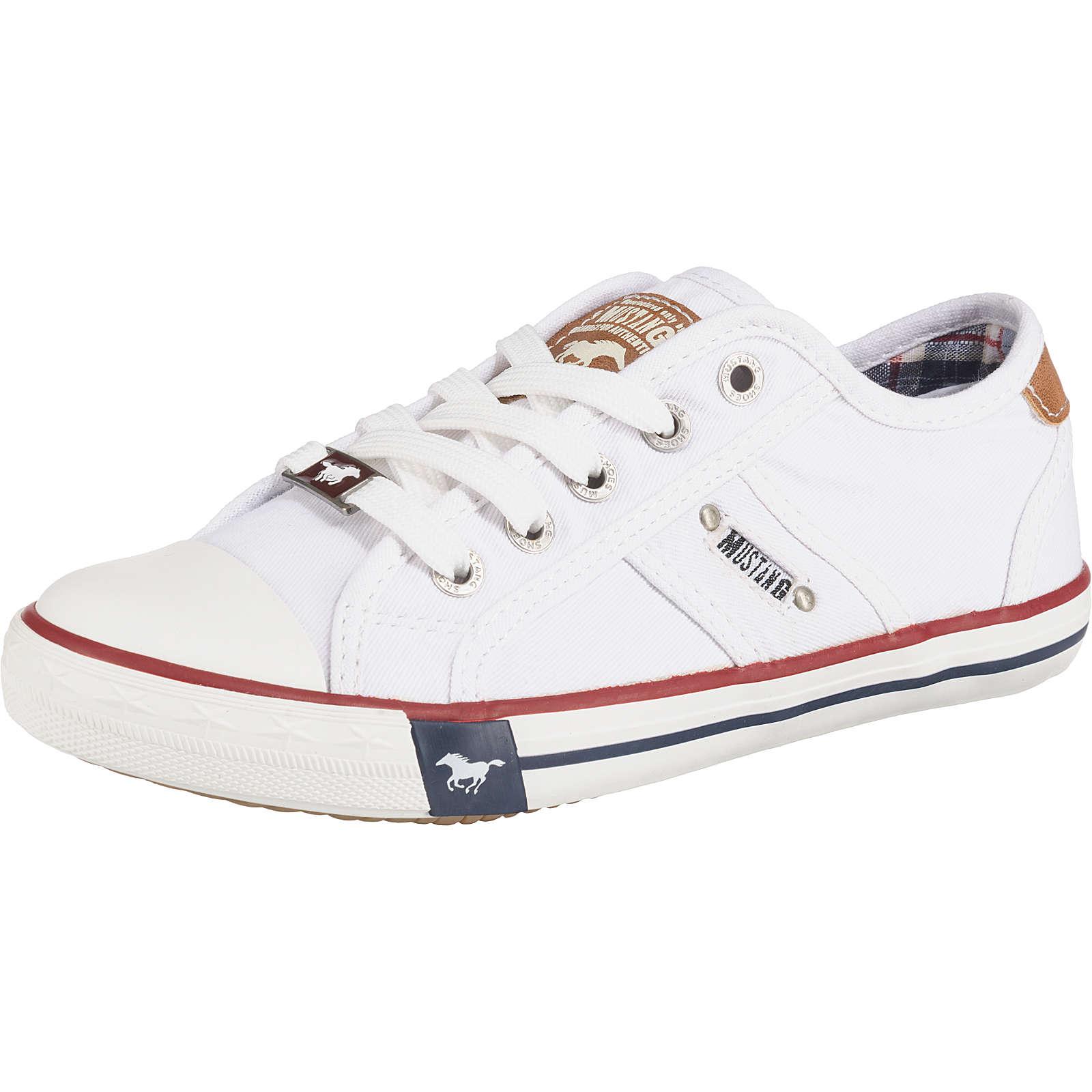 MUSTANG Kinder Sneakers Low weiß Gr. 35