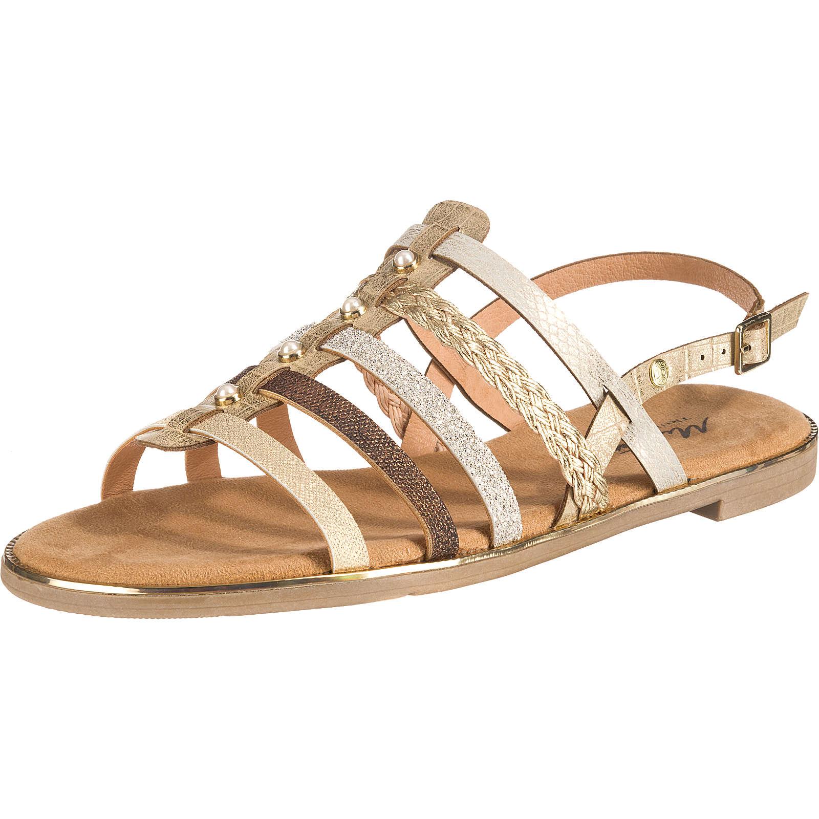 MUSTANG Klassische Sandalen gold Damen Gr. 37