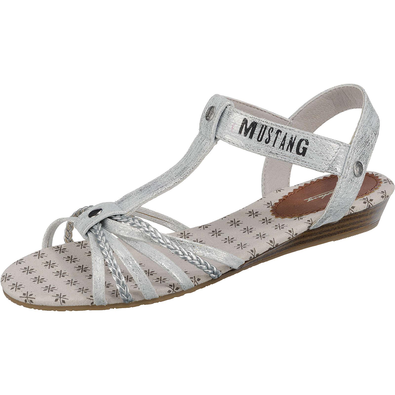 MUSTANG Sandalen für Mädchen silber Mädchen Gr. 33
