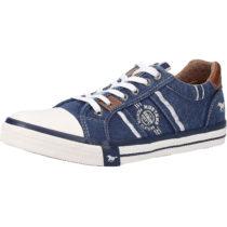MUSTANG Sneaker Sneakers Low blue denim Herren Gr. 41