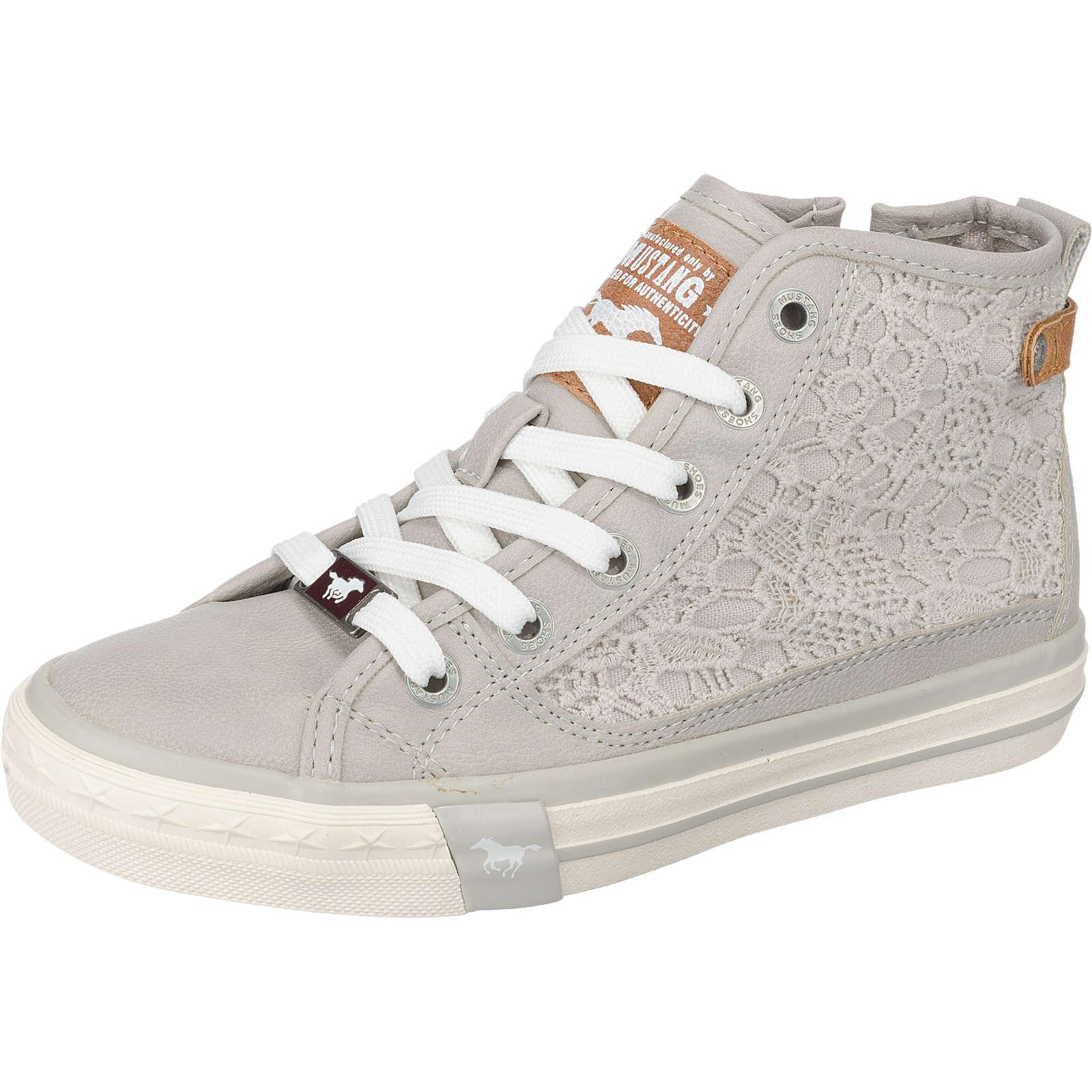 MUSTANG Sneakers High für Mädchen hellgrau Mädchen Gr. 36